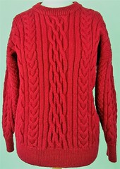 Red hot sexy wool sweater (Mytwist) Tags: red hot warm sexy knit craft cozy retro love gift female wool handknit sweater jumper ski winter fashion style timeless woolovers unisex 100 british heavyweight aran cable sheerquality peacehaven uk east sussex gb united kingdom