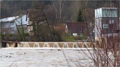 Neckarpegel in Horb 2,81 Meter (HOR-BS 696) Tags: horbamneckar badenwürttemberg berndsontheimer hochwasser neckar