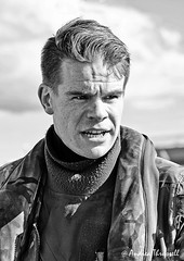 RAF Pilot (manxmaid2000) Tags: raf pilot man royalairforce face portrait candid talking serious eyes monochrome aircrew instructor aviation british uk flight suit flying lifepreserver fuji