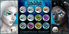 - ELEMENTAL - 'Cymopoleia ' Makeup Advert (elemental.business.sl) Tags: fantasy roleplay mermaid mer ocean sea fae fairy costume fish makeup applier catwa lelutka elemental