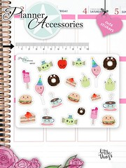 Kawaii Food Stickers Cute Food Stickers Food Stickers Planner Stickers Erin Condren Functional Stickers Decorative Stickers NR737 by EmelysPlannerShop (emelysplannershop.com) Tags: planner stickers icon accessories functional daily agenda organizer live emelysplannershop