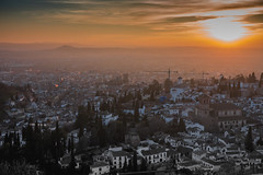 Granada (CROMEO) Tags: granda andalucia españa spain ciudad city sunset sunny sol puesta cromeo cr photography capture vistas view point atardecer color