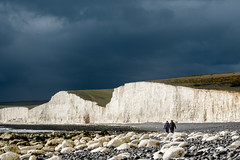 Storm approaching (tom ballard2009) Tags: birling birlinggap gap seven sisters sussex chalk cliffs coast seashore landscape white clouds storm southdowns nationaltrust nt
