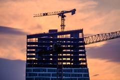 Reaching for the sky (Håkan Dahlström) Tags: 2019 architecture hyllie malmö orange photography point sky skåne sunset sweden f62 xt1 landscape uncropped 0ev normal 2019040518104814 raw 1618mm iso200 ¹⁄₃₂₀sec xc50230mmf4567ois fujifilmxt1 se