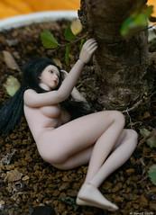 Auprès de mon arbre (BenoitGEETS-Photography) Tags: midori figurine nue nude toys 112 arbre tree couchée lying tranquilité quiet quietly
