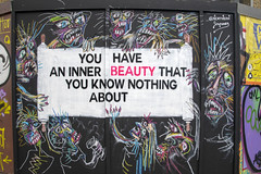 DSC_6114 Shoreditch Great Eastern Street Artwork. You have an inner Beauty that you know nothing about (photographer695) Tags: shoreditch great eastern street artwork you have an inner beauty that know nothing about
