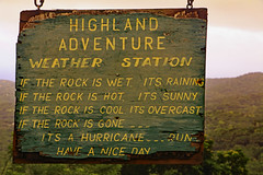 Highland Adventure (TonyKRO) Tags: caribbean sign amusing humour humor barbados hurricane funny