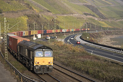 D Crossrail 653-10 Boppard 03-11-2018 (peters452002) Tags: peters452002 eisenbahn railways railway railroad railroads rail trains train trein treinen twop transportation spoor spoorwegen duitsland diesel diesellok ferrovia germany jalalspagestransportationalbum lokomotive lokomotief locomotive clickcamera cargo bahn class66 containertrain containertrein