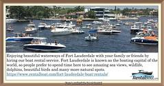 Fort Lauderdale Boat Rental (rentalboat58) Tags: fortlauderdaleboatrental ft lauderdale boat rental