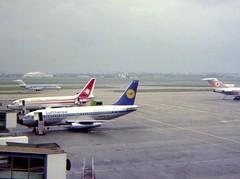 D-ABGE Lufthansa and 7T-VEG Air Algerie Boeing 737s on the stand at London Heathrow (heathrow.junkie) Tags: lhr londonheathrow queensbuilding heathrow 737 boeing737 727 boeing727 lufthansa airalgerie thy klm dc9 douglasdc9 dabge 7tveg