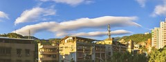 飛碟雲...lenticular Cloud...☁️ (Evo-PlayLoud) Tags: iphonex panorama cloud lenticulacloud 飛碟雲 building sky blue sunshine lightandshadows psexpress