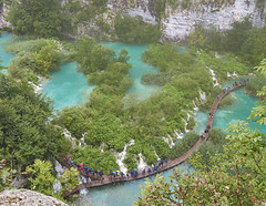 Plitvice lakes waterfalls from top