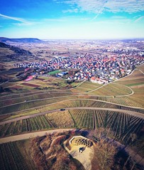 Remstalkino (DrQ_Emilian) Tags: landscape view vineyards hills town urban sky clouds light colors details sunlight mood outdoors travel visit explore discover remstalkino weinstadt remstal remsmurrkreis badenwürttemberg germany europe photography hobby drone aerial djimavic2pro