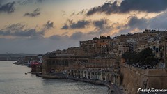 DSC_5797 (Daveoffshore) Tags: malta valletta shore bay sunset water cloud