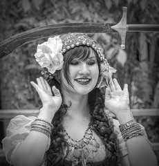 Balance the Sword (clarkcg photography) Tags: woman dancer sword balance blackwhite blackandwhite bw candid danceroutine