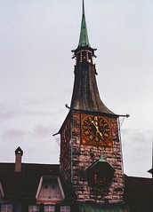 Clock Tower (Bephep2010) Tags: 2019 kodakgold minolta minoltamd50mm114 minoltax700 photoexif schweiz solothurn switzerland turm uhr winter x700 zeitglockenturm analog analogue clock tower kantonsolothurn ch