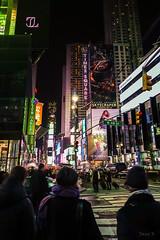 Streets of New York (Jocey K) Tags: sonydscrx100m6 triptocanadaandnewyork architecture buildings crowds street evening people illumination billboards timessq