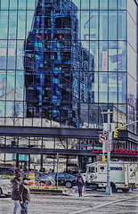 "Reflections and Shadows of Essex Crossing at Delancey and Essex Street (building newly built and designed for living and retail space in 2019) (nrhodesphotos(the_eye_of_the_moment)) Tags: dsc835623001084 ""theeyeofthemoment21gmailcom"" ""wwwflickrcomphotostheeyeofthemoment"" reflections shadows streetscene les nyc manhattan people signs essexmarket crossingessex crossing essexcrossing autos trucks outdoors delancystreet cars roadway thoroughfare architecture structure geometric pedestrians metal glass windows windowpanes shapes lines"