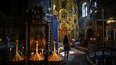 Saint Michael interior is very highly decorated and ornately (B℮n) Tags: київ kyiv kiev ukraine киев kiëv oekraïne dnjepr dnipro hidropark viewpoint historical treasures river green park bridge rusanivskastrait dnieper brovary 50faves topf50 orange revolution independence square europe centre history viktor janoekovytsj україна globus monument independencemonumentмонументнезалежності монументнезалежності ukrainehotel готель готельукраїна євромайдан ❤ blue yellow flag соборсвятоїсофії софійськийсобор national sanctuary holy cathedral complex landmark ukrainian baroque architecture heritage seven wonders unescoworldheritage михайлівськийзолотоверхиймонастир saintmichael goldendomedcathedral goldendomed domes gold golden religious painting priest monk orthodox 100faves topf100