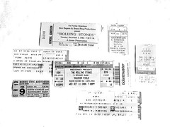 Rolling Stones $15.00 (Lake Effect) Tags: concert stubs ticket cheap old journey rollingstones ledzepplin queen kansas mahogonyrush pinkfloyd ufo acdc