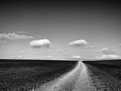 El viaje (una cierta mirada) Tags: path land earth landscape clouds sky cloudscape bnw blackandwhite