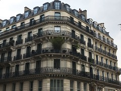 Paris France - Typical Haussmann building  - Architecture (Onasill ~ Bill Badzo) Tags: buildings architectural historical building historic facade architecture windows city balcony window house old street exterior europe town cityscape urban tourist tourism travel capital ancient apartment culture traditional stone famous wall classic estate european residential structure typical construction residence parisian paris design france renovation light beautiful daylight french spring boulevard haussmann flower planters