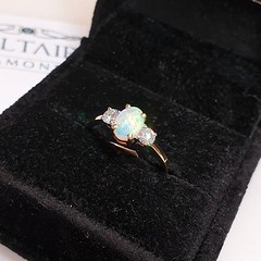 This beauty, with its opal centre stone, is ready to adore some lucky hand 💚 . . . #voltairediamonds #diamond #diamonds #diamondring #ringinspo #engagementring #engagementrings #ringgoals #engaged #isaidyes #ihavethisthingwithdiamonds #gemston (VoltaireDiamonds.ie) Tags: diamond rings engagement jewellery