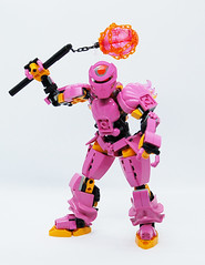 Toa Kelsifa (0nuku) Tags: bionicle lego toa fire ta pink mace flail elves 3dprint punkdrunk182 exota kafai magnetism