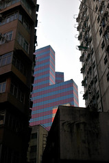 Skyscraper Architecture   Hong Kong (香港), China (Ping Timeout) Tags: hong kong hongkong china sar 香港 island south special administrative region people's republic prc territory december 2018 vacation holiday trip 香港特區 香港特区 architecture modern residential commercial commerce trade building tower apartment old new office prime mong kok mongkok kowloon district view scene cityscape city urban high density window glass colour color pink magenta cyan blue sky skies vertical pattern shape stripe street road concrete jungle