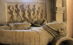 The tomb of George & Anne Wynter (jpotto) Tags: uk gloucestershire dyrham dryrhamchurch church tomb georgewynter annewynter tudor carving stone