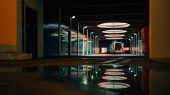 "22,183 ""8 elements in 2 groups"" (Panda1339) Tags: 28mm scifi london cinematic parking reflection streetphotography retrofuturism loading ldn uk light"