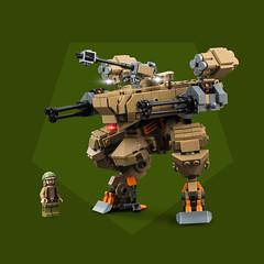 Mech Monday #6: ARES (roΙΙi) Tags: mechmonday mech military minifigure guns turret lego afol moc