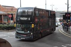 NXWM 6707 @ Moor Street Queensway, Birmingham (ianjpoole) Tags: national express west midlands alexander dennis enviro 400mmc yx15oyb 6707 working route 4 solihull train station carrs lane birmingham