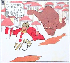 Flip running from a Gertie type Dinosaur 2486A (Brechtbug) Tags: flip running from gertie type dinosaur little nemo slumberland sunday funnies comic strip newspaper news paper 1913 color vaudville daily comics funny humor satire character characters clown clowns syndicate windsor mccay fantasy animation the new york herald tribune papers cartoonist animator brontosaurus city 2019 nyc prehistoric monster lizard creature green very much like sinclair oil gas station logo 1960s 1970s