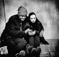 Happy Couple (massimosvestito) Tags: street streetshot bnw blackandwhite blackwhite bw massimosvestito massimo svestito couple streetphotography portland oregon pdx happy