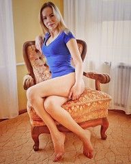 Very comfy armchair (PhotoFreakx) Tags: model lumix kink fetish feet legs blonde blue bitch slut female femme beauty pretty porn erotic hot sexy milf girl woman wife lady mistress femdom domination domina sm bdsm cuckold cuckqueen queen