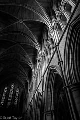 Cathedral Interior (Scrufftie) Tags: ancient southwark cathedral church fujinonxf1855mm mono photoshop churchofengland fujifilmxh1 bankside london lowkey fuji style monument bw interior lightroom blackwhite