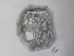 Constellation Girl 2 (Ephraim Fowler) Tags: ephraim fowler drawing girl constellations star art pencil