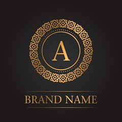 Luxury gold template monogram (gfx_alibaba) Tags: logo luxury monogram boutique design elegant ornament vector emblem vintage hotel letter business antique royal stylish brand calligraphic classic decor decoration decorative element modern sign alphabet gold floral graphic frame flower template background restaurant alphabetical branding feminine flourish identity insignia jewelery label new white m art auction businesscard calligraphy capital