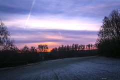 Aube...gla gla (kiareimages1) Tags: sunrise sky winter ice clouds landscapes day colors belgium charleroi marcinelle
