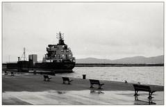 The port at dawn (Christos Theofilogiannakos) Tags: nikonfm afnikkor2880d kodaktmax400 expiredfilm film 35mm bw stand hc110g