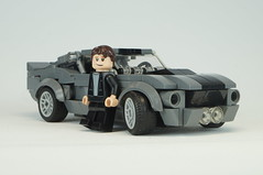 Eleanor with Randall Raines (skallesplitter) Tags: lego gonein60seconds nicolascage shelby shelbygt500 ford mustang memphisraines hollywood