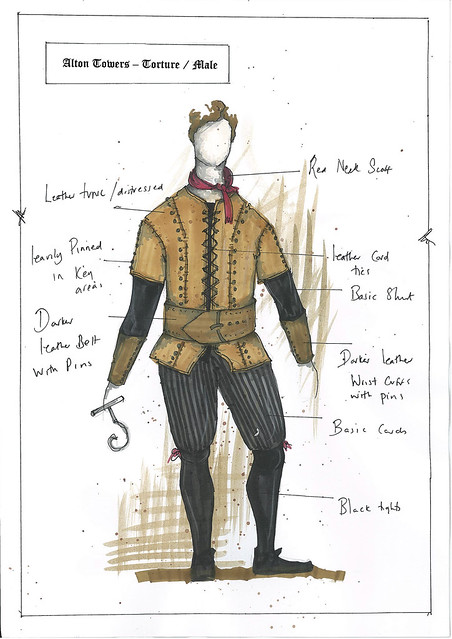 Dungeon Costume Drawings - Torturer