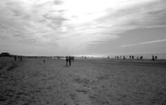 Beach (Arne Kuilman) Tags: nikon fm3a vivitar 28mm luckyshd iso100 id11 7minutes homedeveloped stock analogue film egmondaanzee clouds wolken strand beach