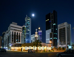 KUWAIT NIGHT (dawey [Mohammad Alhmaid]) Tags: daweyq8 2019 building city cityscape dawey kuwaitcity light lighting longexposure mohammadalhmaid night nightmode nikkor nikkor2485mmf3545gedvr nikond800e kuwaitnight moon