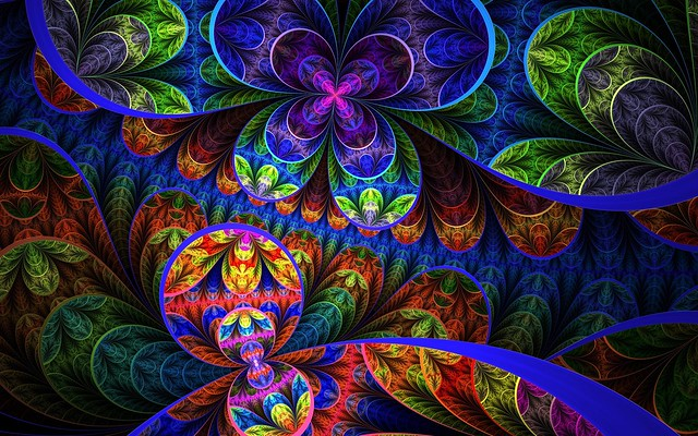 Обои цветы, фон, разноцветный, узоры картинки на рабочий стол, фото скачать бесплатно