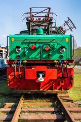 """die """"Hundert-Tonnen-Lok"""" mit Seitenstromabnehmer (jürgenmilnik) Tags:"""