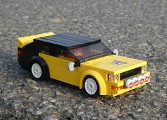 Audi Quattro (captain_joe) Tags: toy spielzeug 365toyproject lego minifigure minifig car auto 6wide audi quattro