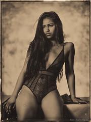 Maryana (patrickvandenbranden) Tags: alternativeprocess bw beauty blackandwhite boudoir darkroom female feminity femme fineart glassplate goniochromatype lingerie monochrome noiretblanc portrait positive pretty procédéalternatif woman