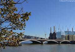 Cityscape of London (Ellacott Photography) Tags: cityscape london architecture riverthames chelseabridge battersea editing lightroom photography nikond3100 batterseapowerstation